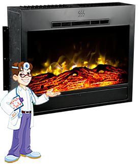 Heat Surge Roll N Glow Electric Fireplace Insert 1